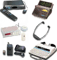 Pictures of several assistive listening devices.