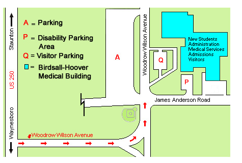 Driving Directions Map of WWRC Campus